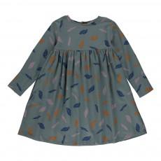 Robe  Feuilles d'automnes Bleu Vert
