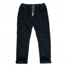 Pantalon Jogger Print Bleu
