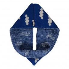Echarpe Tube Nuages Bleu