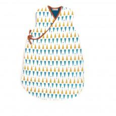 Gigoteuse Montréal à triangles jaune bleu