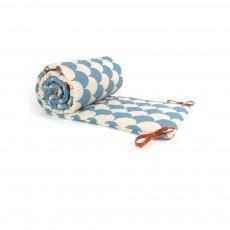 Tour de lit écaillles Bleu