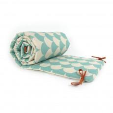 Tour de lit écaillles Bleu turquoise