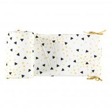 Tour de lit Constantinople triangles noir jaune