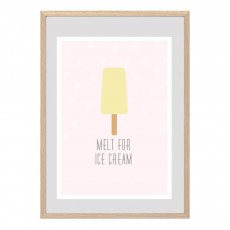 Affiche Ice Cream Multicolore