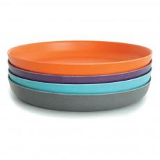 Set de 4 assiettes Bambino Bleu turquoise