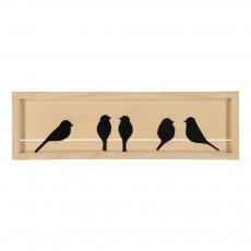 Cadre oiseaux Piaf Noir