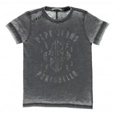 T-shirt Manches Courtes Tariq Gris chiné