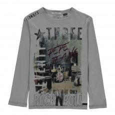 T-shirt Manches Longues  Tyler Gris