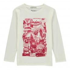 T-shirt Manches Longues  Teo Blanc