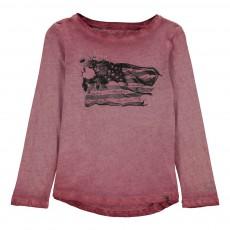 T-shirt Manches Longues  Caro Rouge brique