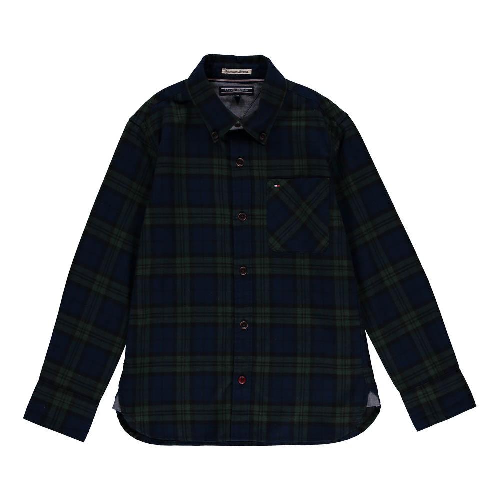 chemise carreaux abe bleu tommy hilfiger mode ado gar on smallable. Black Bedroom Furniture Sets. Home Design Ideas