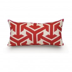 Coussin Ostende 23x47 cm Rouge