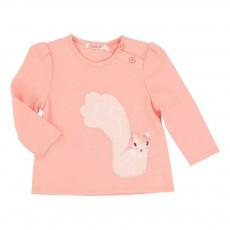 T-shirt Ecureuil Rose pêche