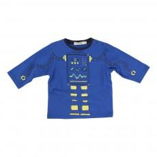 T-shirt Robot Bleu électrique