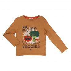 T-shirt Légumes Super Héros Caramel