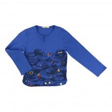 T-shirt Hamburgers Bleu électrique
