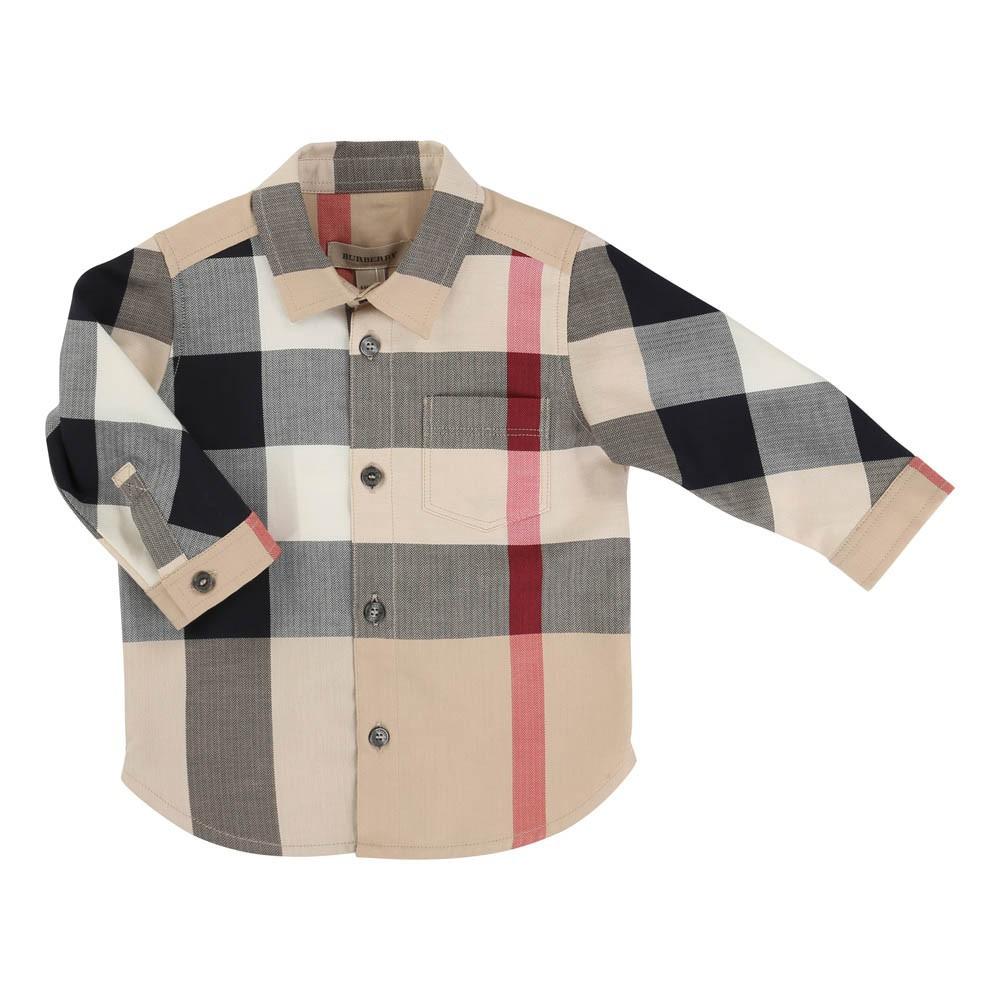 chemise tartan beige burberry mode ado gar on smallable. Black Bedroom Furniture Sets. Home Design Ideas