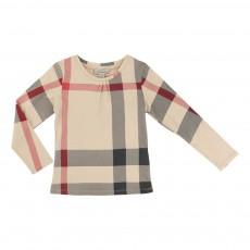 T-shirt Tartan Beige