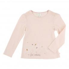 T-shirt Forêt Enchantée Rose poudré