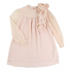 Robe Couture Col Amovible Rose poudré