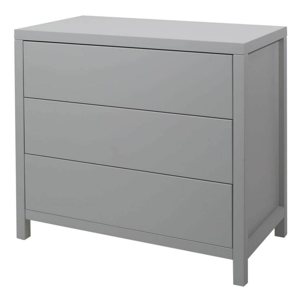 commode 3 tiroirs joy gris clair quax mobilier smallable. Black Bedroom Furniture Sets. Home Design Ideas