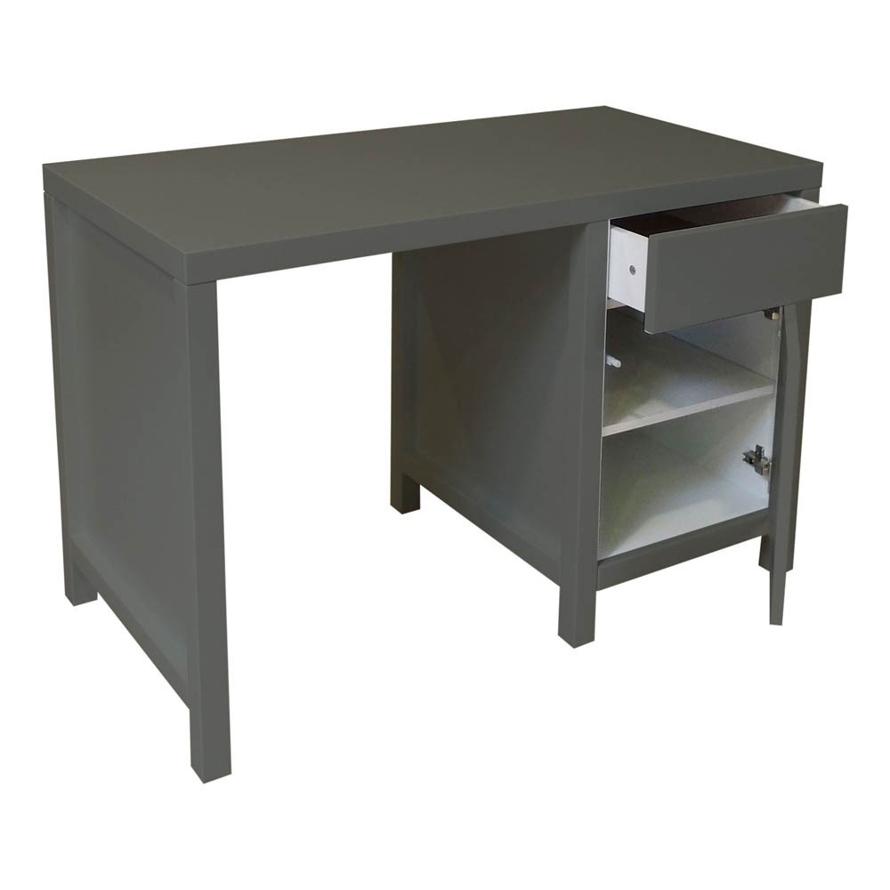 bureau enfant joy gris fonc quax mobilier smallable. Black Bedroom Furniture Sets. Home Design Ideas