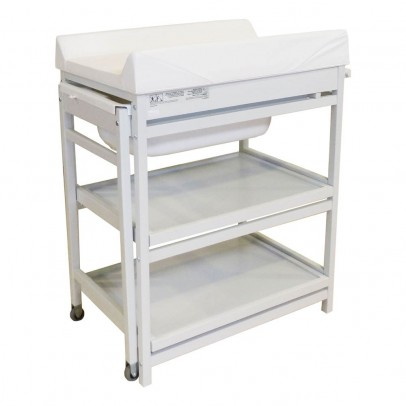 Table langer comfort baignoire et matelas blanc quax - Commande table a langer ...