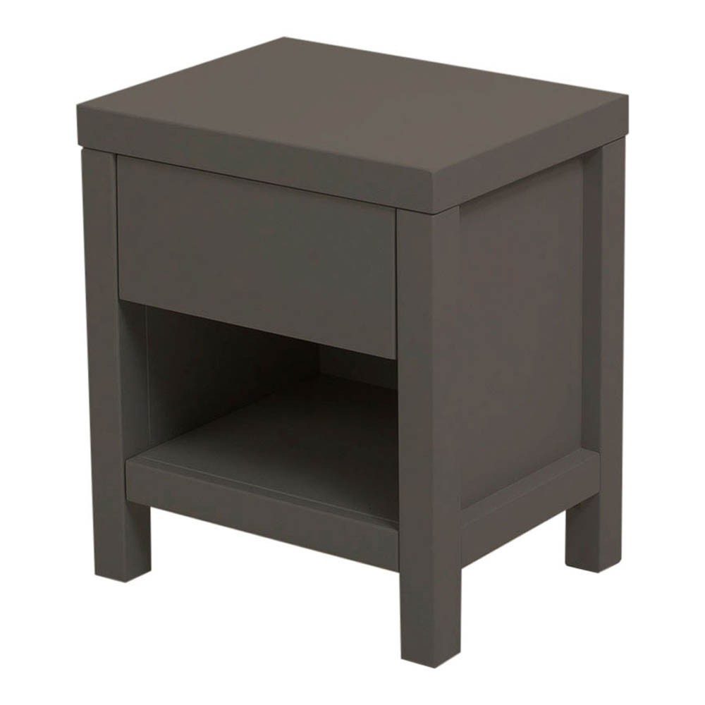 Table de nuit joy gris fonc quax mobilier smallable for Table de nuit grise