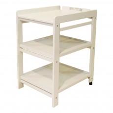 Table à langer Comfort - étagères extractibles Blanc