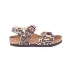 Sandales Rio Leopard Marron