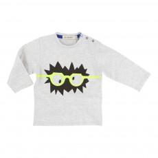 T-shirt Whaou Gris chiné