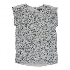 T-Shirt à Pois Vicky Gris