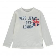T-shirt Manches Longues Telmo Blanc