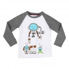 T-shirt Bicolore Mr Marc Espace Blanc