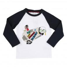 T-shirt Bicolore Mr Marc Cirque Blanc