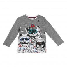 T-shirt Animaux Astronautes Gris foncé