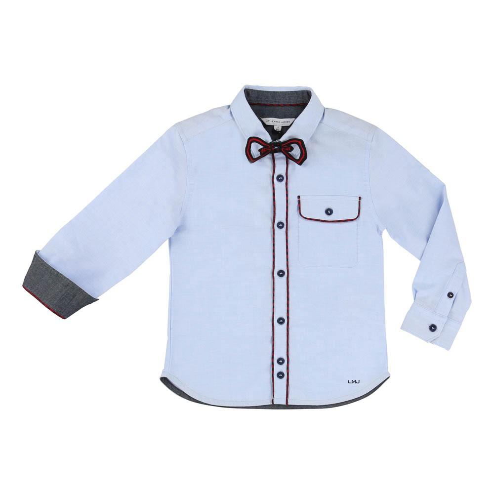 chemise n ud papillon amovible bleu ciel little marc jacobs mode ado gar on smallable. Black Bedroom Furniture Sets. Home Design Ideas