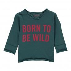 """T-Shirt """"Born To Be Wild"""" Boxi Bleu Vert"""