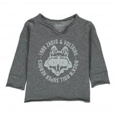 T-Shirt Loup Masqué Boxi Gris chiné