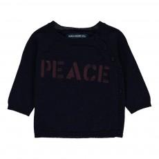 Pull Peace Bruce Bleu marine