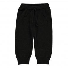 Pantalon Laine Cachemire Huggo Vert kaki