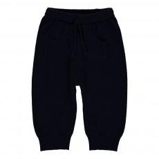 Pantalon Laine Cachemire Huggo Bleu marine