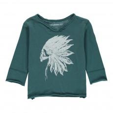 T-Shirt Indien Boxi Bleu Vert