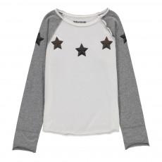 T-Shirt Bicolore Etoiles Luanda Gris