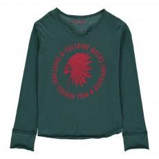 T-Shirt Indien Boxer Bleu Vert