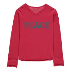 T-Shirt Peace Boxer Rose fuschia