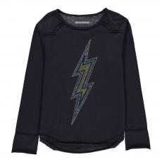 T-Shirt Eclair Clous Axel Bleu marine