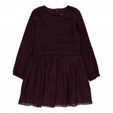 Robe Smockée Robin Bordeaux