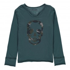 T-Shirt Tête de Mort Boxer Bleu Vert