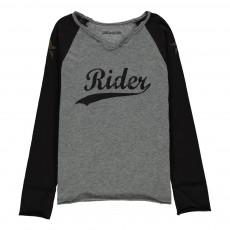 T-Shirt Bicolore Rider Boxer Gris chiné